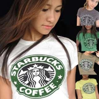 STARBUCKS COFFEE Vintage T Shirt XS, S, M, L ToP ☆
