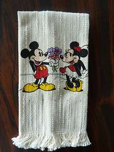 Disney Hand Towel Minnie and Mickey Mouse New