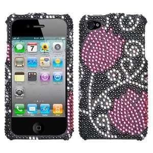 Apple iPhone 4 Tulip Diamante Protector Cover Case Cell