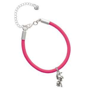 Unicorn Charm on a Hot Pink Malibu Charm Bracelet Jewelry