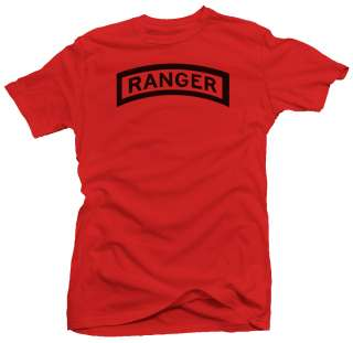 Ranger blk US Army Military Forces New Airborne T shirt