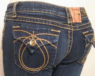 Sz 0 15 Womens Dark Blue Bootcut Jeans FREE True Religion Perfume Vial