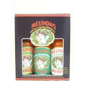 Melindas Habanero Hot Sauce Gift Set, 15 fl oz:  Grocery