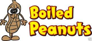 Boiled Peanuts Concession Food Sign Decal 14