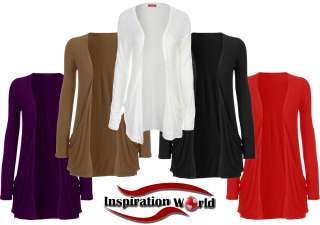 NEW Ladies LONG SLEEVES Womens CARDIGAN Top SIZE S M L