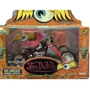 Jada Toys Von Dutch Kustom Cycles diecast 1:18 scale Cruel