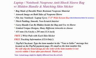 17.3 LAPTOP SLEEVE BAG w/ HANDLE & SKIN STICKER ZC311