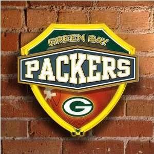 Green Bay Packers Neon Shield Wall/Window Lamp Sports
