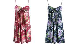 Aeropostale womens floral spaghetti strap dress   Style 8588