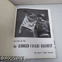 US WWII 3rd ARMORED CAVALRY REG UNIT HISTORY BOOK FORT GEORGE MEADE MD