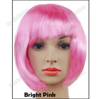 Lady Cosplay Party Fancy Dress Short Straight Fake Hair Wig
