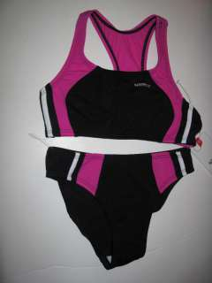 NWT Speedo Girls Bikini Tankini Pink Swimsuit 8/10/12