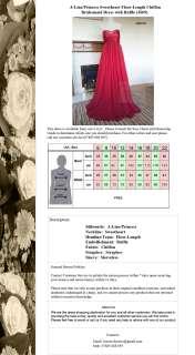 Red Chiffon Evening Party Wedding Bridesmaids Dress size 8 24