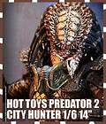 HOT TOYS PREDATOR 2 1990 CITY HUNTER WITH BIO MASK 1/6 14