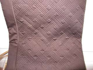 Ralph Lauren SUITE LATTICE Chocolate Queen Quilt $270