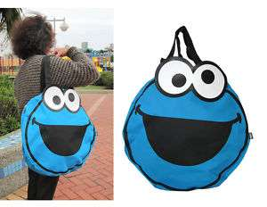 SESAME STREET Shoulder Bag   Large Cookie Monster Bag