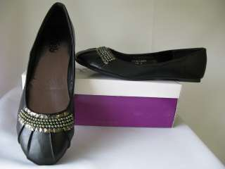 Womens Black silver ballets flats shoes Sizes 7 11 New