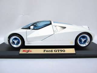 MAISTO DIE CAST FORD GT90 SPORTS CAR MINT 118 DIECAST WHITE RACE