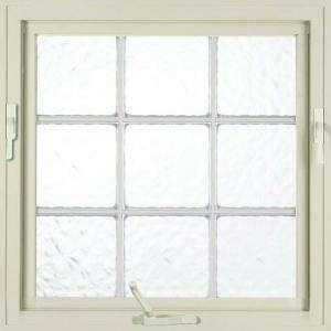 Hy Lite 29 in. x 29 in. Glacier Pattern 8 in. Acrylic Block White