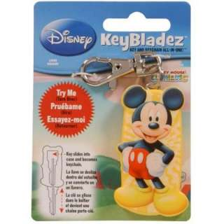 Mickey Mouse Key and Keychain All in One 87476