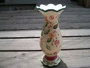 CAPRIWARE VASE HAND PAINTED IN CHINA