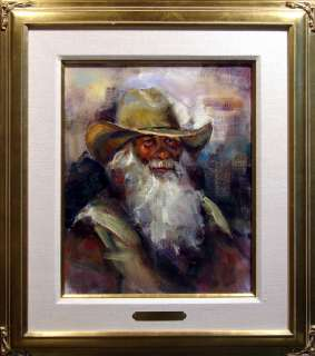 Apodaca COWBOY Original Oil Painting Canvas Hand Signed, MAKE OFFER