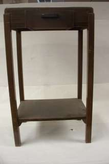 small wooden telephone/night stand w/drawer, 26 1/2x16x11