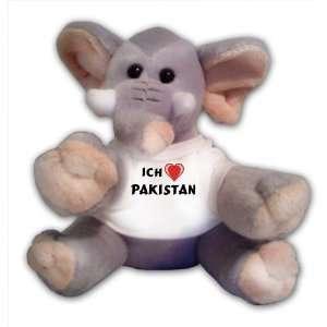 Plüschtier mit Ich liebe Pakistan T Shirt  Spielzeug