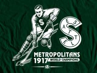 Seattle Metropolitans Logo Tee Shirt   Hockey