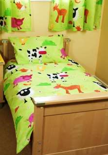 Farm Yard Cow Sheep Horse Pig 100% Cotton Boys Bedding
