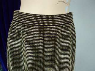 St John Knit COLLECTION Brown Gold SEXY SKIRT SIZE 6 8