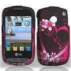 BLUE IMPACT HARD SOFT CASE COVER KICKSTAND FOR LG 800G PHONE ACCESSORY