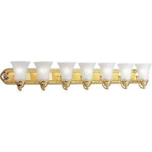 Lighting Montgomery Collection Polished Brass 7 light Vanity Fixture