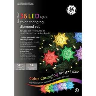 GE 36 Light LED Diamond Color Changing Light Show Set 72070X at The
