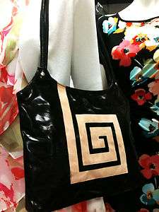 INDIAN Handmade Tooled Painted BLACK GOATSKIN LEATHER HAND BAG PURSE