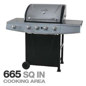 Char Broil 463210310 Propane Grill with Sideburner   4 Burner, 665