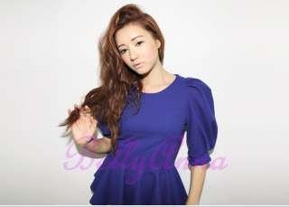 Shoulder Empire Waist Vtg Rockabilly Peplum Tops Shirt Blouse