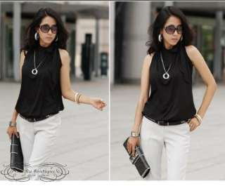 2011 Summer New Career Stylish Bow Tank Shirt Blouse