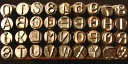 Jewelers 1/4 steel alphabet & number stamp set 36 pcs