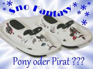 Lenkschlitten Sno Fantasy weiß Hamax Pony oder Pirat, Snow Bob