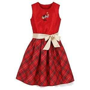 NWT Disney Minnie Mouse Holiday Christmas Dress for Girls Size 2
