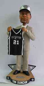 Tim Duncan San Antonio Spurs 1997 NBA Draft Day Bobble Head Exclusive