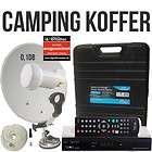 Camping Sat Anlage HDTV Receiver LNB Kabel im Koffer