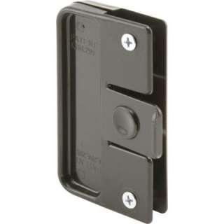 Prime Line Sliding Screen Door Latch and Pull, Black Plastic, Rolleze