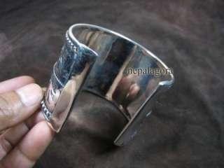 B1994 dance white CUFF bangle bracelet india jewelry