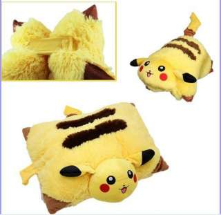 Pokemon Pikachu Pet Toy Doll Pillow Transforming Cushion Soft Plush