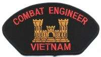 US ARMY COMBAT ENGINEER VIETNAM CUSTOM MILITARY PATCH