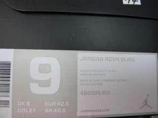 NEW MENS JORDAN RCVR SLIDE 486995 601 VARSITY RED/WHITE BLACK