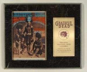Original Grateful Dead FD054 Handbill in Plaque w/ COA