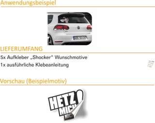 E185 Shocker DUB OEM Aufkleber Sticker AUTO VW GOLF GTI AUDI BMW